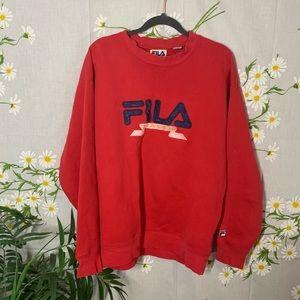 M VTG red Fila Italia sweatshirt
